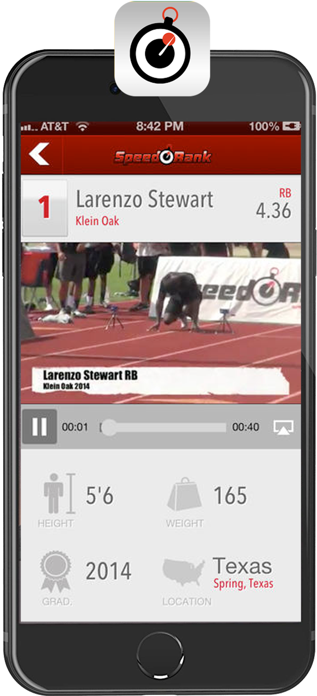 Speed Rank: iPhone app, available on AppStore